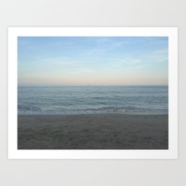 New England Beach Art Print