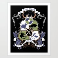 Dragon Training Crest - How to Train Your Dragon Art Print