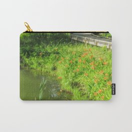 Lilies Along the Bridge Carry-All Pouch