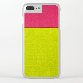 Color Square Clear iPhone Case