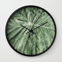 Tropical Leaf | Nature Photography | Green | Micro Wall Clock