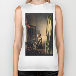 "Johannes Vermeer ""Girl Reading a Letter at an Open Window"" Biker Tank"