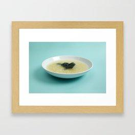 Sea lion soup Framed Art Print