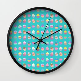 Cupcake sweet dream colourful factory pattern Wall Clock