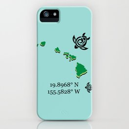 Hawaii Map Coordinates iPhone Case