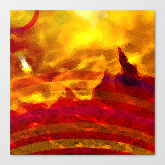 The Red Planet. Canvas Print