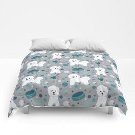Bichon Frise dog pattern Comforters