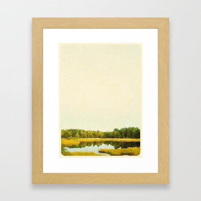 Fall In Portland, ME Framed Art Print