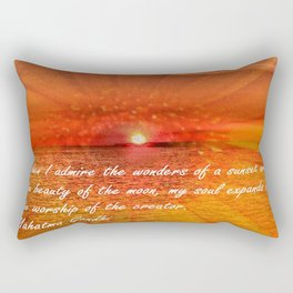 Sunset and Worship of the Creator by Saribelle Rodriguez Rectangular Pillow