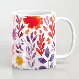 Seamless watercolor wave hand-drawn pattern, organic waves background Coffee Mug