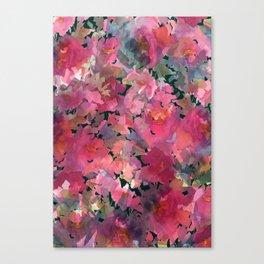 Red Rose Garden Canvas Print