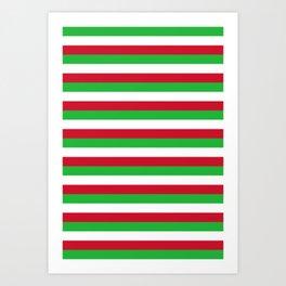 Burundi flag stripes Art Print