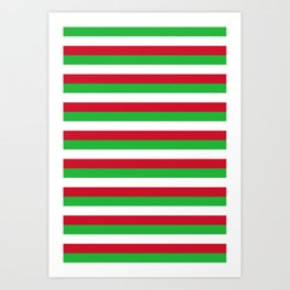 Burundi flag stripes Art Print