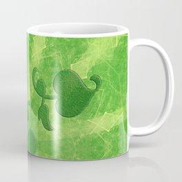 Vine leaves on green kaleidoscope Coffee Mug