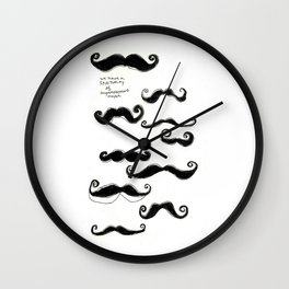 Spirituality of Imperfection Mustache Wall Clock