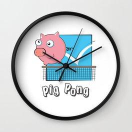 Pig Pong Wall Clock