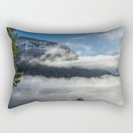 Foggy Fjord in Norway Rectangular Pillow