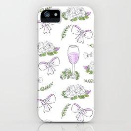 Watercolor seamless romantic print iPhone Case