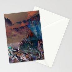 Beach Day - Umbrellas - Ocean Stationery Cards