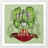 bucky Art Prints featuring Bucky by Twisted Dredz