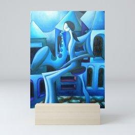 Blues in the City Mini Art Print