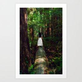Lady of the Redwoods Art Print