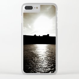 Whitby abbey sunset Clear iPhone Case
