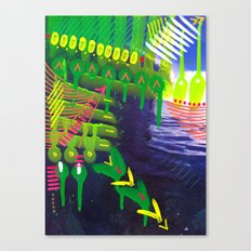 Wave green Canvas Print