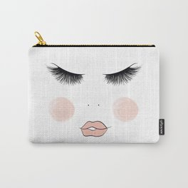 Lashes And Lips Carry-All Pouch