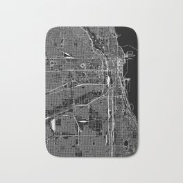 Chicago Black Map Bath Mat