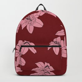 Lily The Tiger - Red Backpack