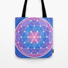 Starry Flower of Life Tote Bag