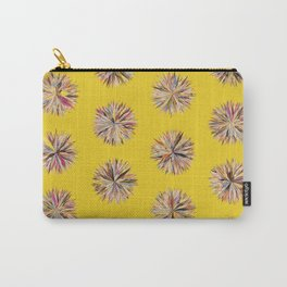 Sunset Poms on Yellow Field Carry-All Pouch