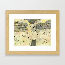 Watching the Clouds Framed Art Print