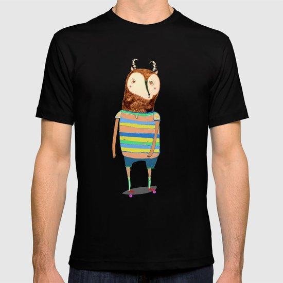 Deer, deer art, deer print, deer illustration, skateboard art, skateboarder,  T-shirt