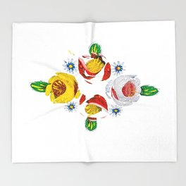 Canal roses of noproblem Throw Blanket