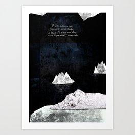 Sleeping Polar Bear Art Print