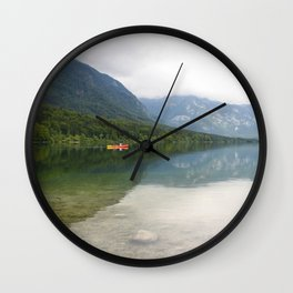 Kayaking on Lake Bohinj Wall Clock