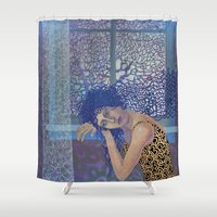 window Shower Curtains featuring Window by doviArt