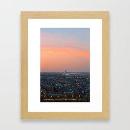 Montreal Twilight Framed Art Print