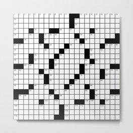 Crossword Puzzle - Write on it!  Metal Print