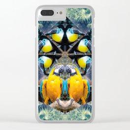 Rainbow Jungle Clear iPhone Case