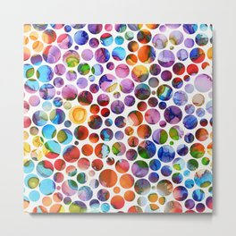 Dots on Painted Background 5 Metal Print