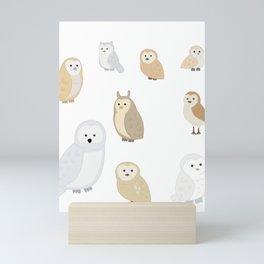 Owls of The World, Owl Lover Gift, Bird Lover, Bird Watcher Shirt Mini Art Print