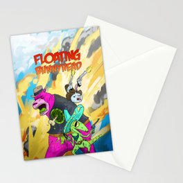 Floating BunnyHead Western Action  Stationery Cards