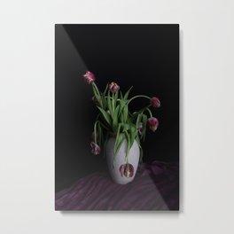 Tulips in vase Metal Print