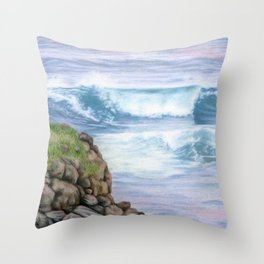 Cliff By The Sea Throw Pillow