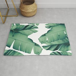 Banana Leaves Tropical Vibes #4 #foliage #decor #art #society6 Rug