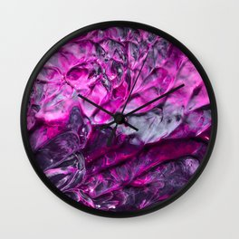 Purple Abstraction Wall Clock