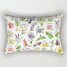 Plants & Herbs Alphabet Rectangular Pillow